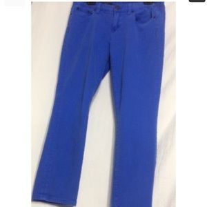 J Crew Toothpick Blue sz 30 Ankle Jeans colored